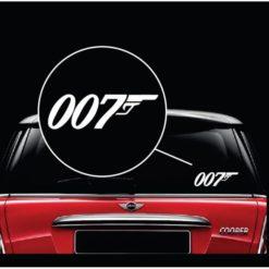 007 James Bond Window Decal Sticker