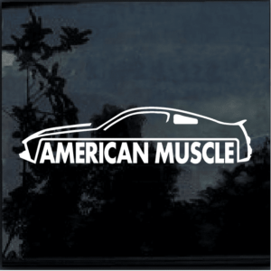 American Muscle Ford Mustang Window Decal Sticker