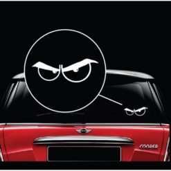 Angry Eyes window decal sticker