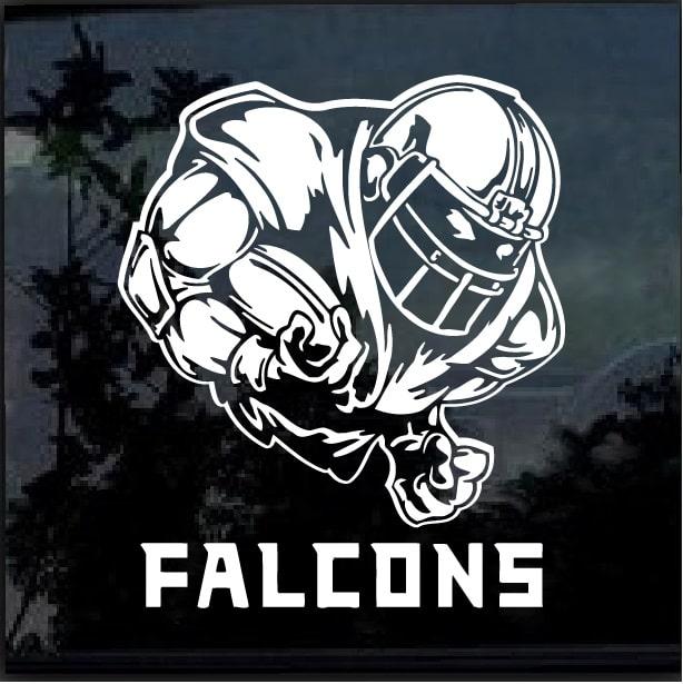 Atlanta Falcons Football Decal Sticker Color Shown ships RED