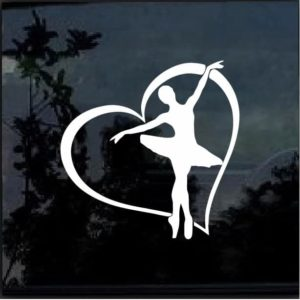 BALLERINA HEART Vinyl Decal Sticker
