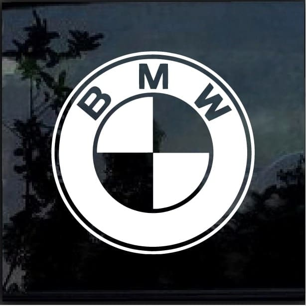 Bmw decal sticker custom sticker shop for Custom vinyl windows