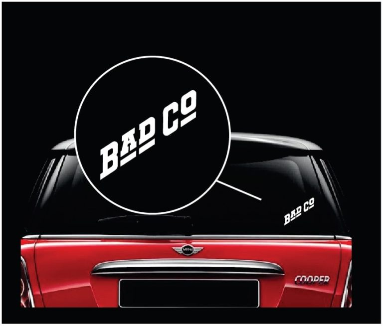 Bad Company Band Vinyl Window Decal Sticker