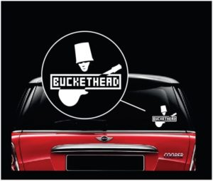 BucketHead band window decal sticker