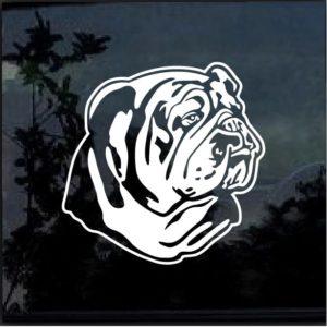 Bulldog English American Bull Dog Window Decal Sticker