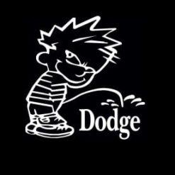 Calvin Piss On Dodge Vinyl Decal Stickers