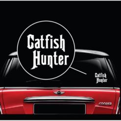 Catfish Hunter Window Decal Sticker A2