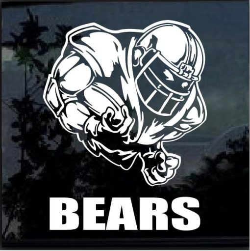 Chicago Bears Football player Window Decal Sticker