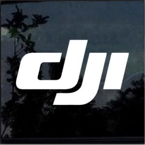 DJI Logo Vinyl Window Decal Sticker