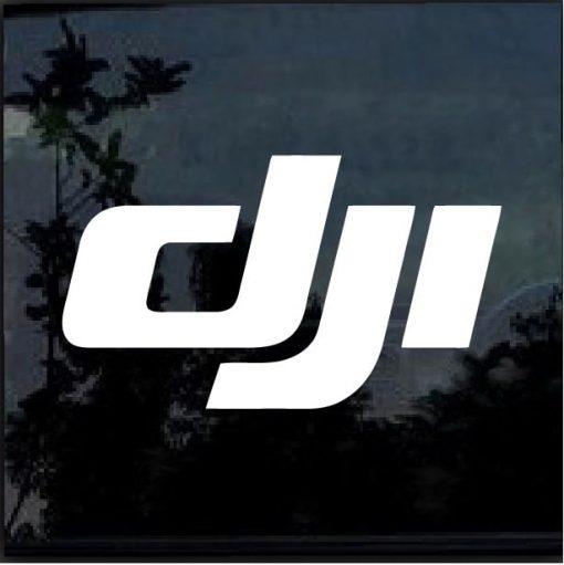 DJI Logo Vinyl Window Decal Sticker