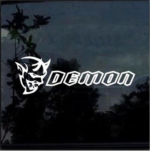 Dodge Challenger SRT Demon Vinyl Window Decal Sticker