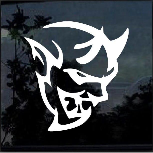 Dodge srt demon head vinyl window decal sticker