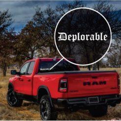 Donald Trump Deplorable Window Decal Sticker