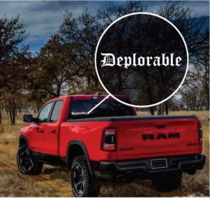 Donald Trump Deplorable Window Decal Sticker