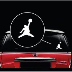 Fat Michael Air Jordan Jumpman Window Decal Sticker