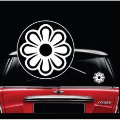 Flower Power Daisy Window Decal Sticker