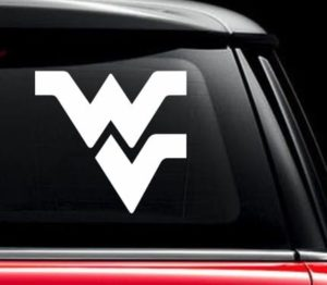 Flying WV WVU Mountaineers Window Decal Sticker