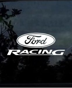 Ford Racing Vinyl Window Decal Sticker