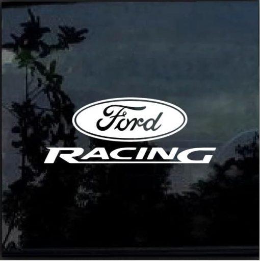 Ford Racing Vinyl Window Decal Sticker