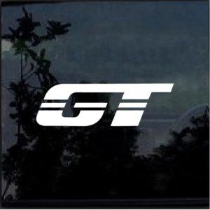 GT For Mustang Vinyl Window Decal Sticker