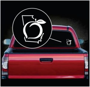 Georgia Peach Vinyl Window Decal Sticker