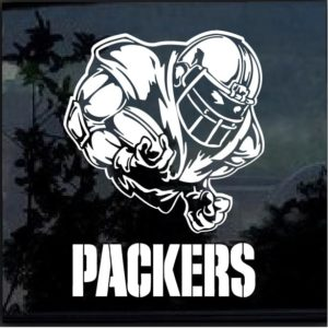 Green Bay Packers Football player Window Decal Sticker