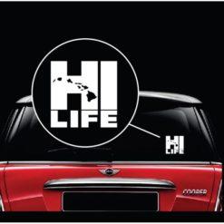 HI Life Hawaiian Islands Vinyl Window Decal Sticker