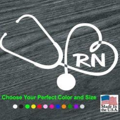 Heart Stethoscope RN Nurse Vinyl Decal Stickers