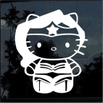 Hello Kitty Wonder Woman  Window Decal Sticker