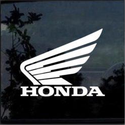 Honda Winged Logo Vinyl Window Decal Sticker