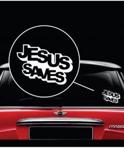 Jesus saves Vinyl Window Decal Sticker a2