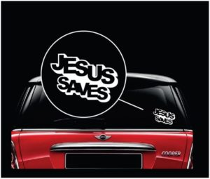 Jesus saves Vinyl Window Decal Sticker a2