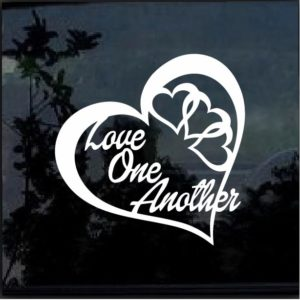 LOVE ONE ANOTHER HEART Vinyl Decal Stickers