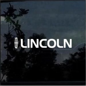 Lincoln with emblem Vinyl Window Decal Sticker