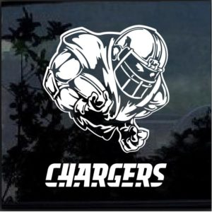 Los Angeles Chargers Football player Window Decal Sticker