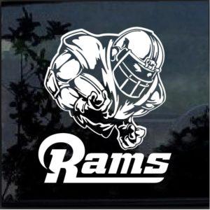 Los Angeles Rams Football player Window Decal Sticker