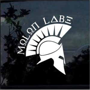 MOLON LABE SPARTAN Vinyl Decal Car a3