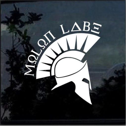 MOLON LABE SPARTAN Vinyl Decal Car a3