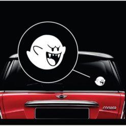 Mario Brothers Boo Vinyl Window Decal Sticker