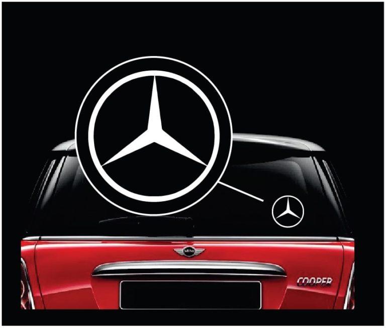 Mercedes benz decal sticker custom sticker shop for Mercedes benz decal
