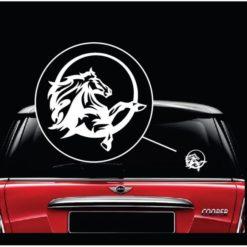 Mustang horse round window decal sticker