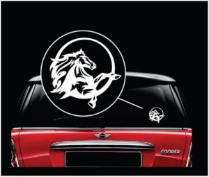 Mustang horse round window decal sticker