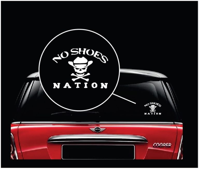 Car Decals No Shoes Nation Kenny Chesney Sticker