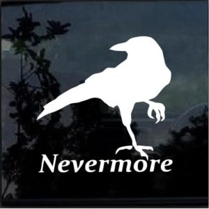 Nevermore The Raven Window Decal Sticker a2