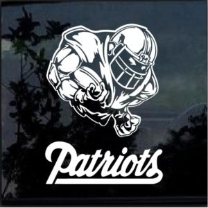 New England Patriots Football Player Window Decal Sticker