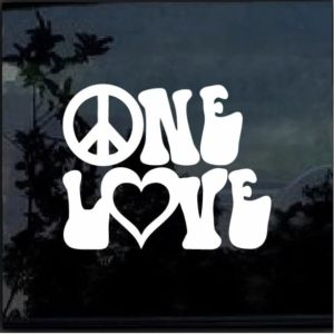 ONE LOVE Vinyl Decal Sticker Car