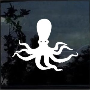 Octopus Vinyl Window Decal Sticker