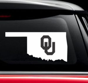 Oklahoma Sooners OU State Window Decal Sticker