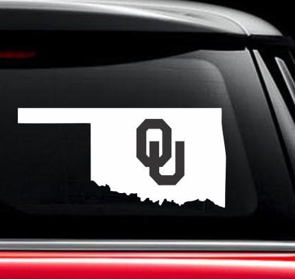 Oklahoma Sooners OU State Window Decal Sticker