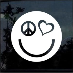 PEACE LOVE HAPPINESS Vinyl Decal Sticker